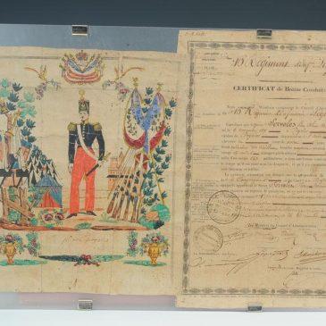 [Documents historiques 16e Léger] Lettre d'un Voltigeur 1820 && Acte décès d'un Chasseur 1808