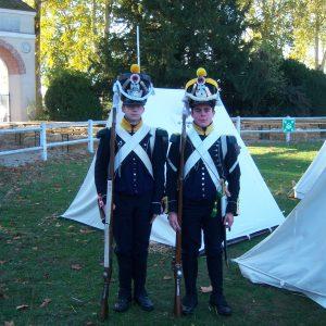16e Régiment d'infanterie légère à Rambouillet avec Napoléon