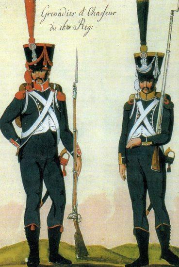 Carabinier et Voltigeur 16e léger 1807-1808
